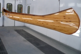 Homemade Canoe In Paint Booth